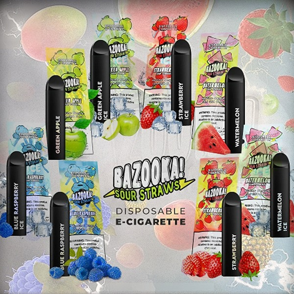 Bazooka Disposable Bars Sour Series Long Lasting 350+Puffs